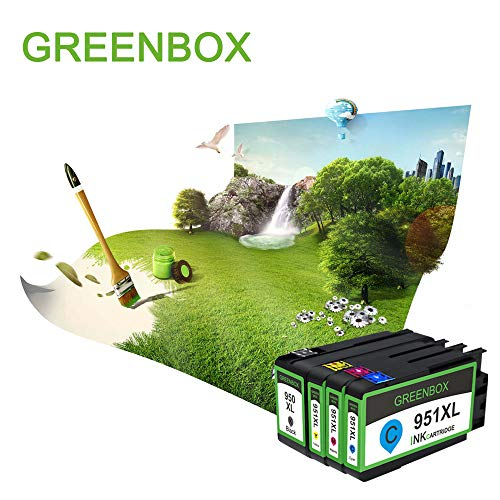 GREENBOX Compatible Ink Cartridge Replacement for HP 950XL 951XL 950 951 Used in Officejet Pro 8600 8610 8100 8620 8630 8640 8615 8625 8616 276DW 271DW 251DW(1 Black 1 Cyan 1 Magenta 1 Yellow 4 Pack) Photo #4