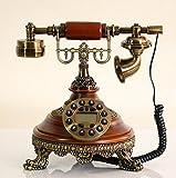 La moda retro teléfono fijo rural Casa el rey de los europeos antiguos teléfonos