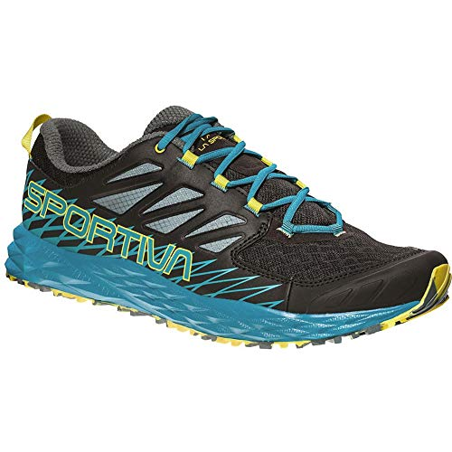 La Sportiva Lycan, Zapatillas de Trail Running para Hombre, Multicolor (Black/Tropical Blue 000), 48.5 EU