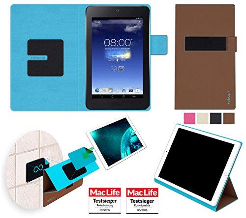 reboon Hülle für Asus MeMO Pad HD 7 Tasche Cover Case Bumper | in Braun | Testsieger