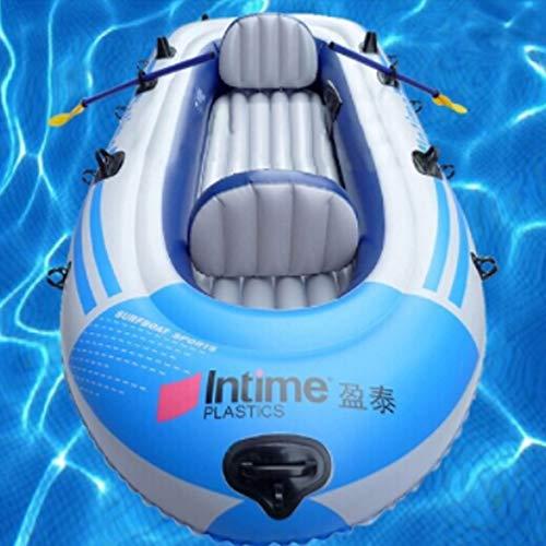 SHZJ Juego De Kayak Inflable para 4 Personas con 1 * Cuerda De AlgodóN + 1 Par De Pulpa PláStica + 1 * Bomba Manual + 1 * Kit De ReparacióN + 2 * CojíN