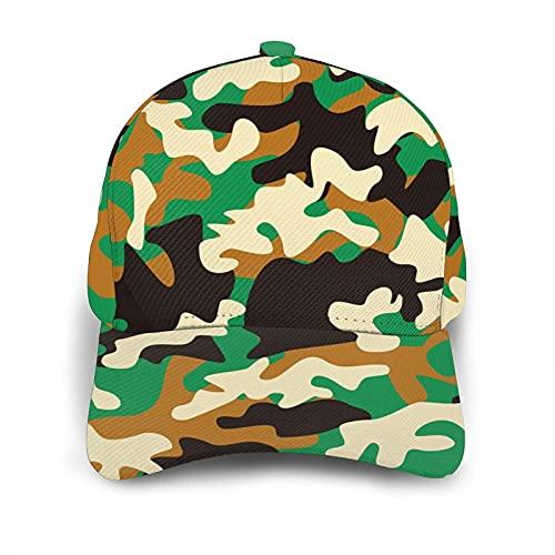 VJSDIUD Gorra de Beisbol Men's Baseball Cap Woodland Camouflage Camping Women Baseball Hat Cotton Adjustable Dad Cap Trucker Hat