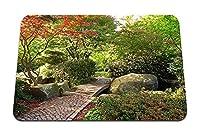 22cmx18cm マウスパッド (パス石庭の木紅葉) パターンカスタムの マウスパッド