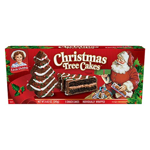 Little Debbie Christmas Variety Pack, 5 Products, Christmas Tree Cakes, Brownies, Nutty Bars, and Gingerbread Cookies