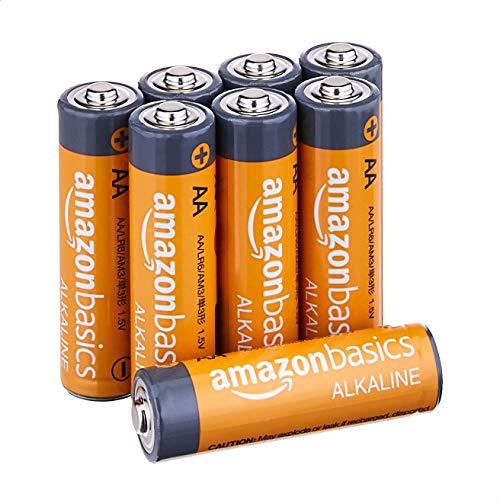Amazon Basics AA 1.5 Volt Performance Alkaline Batteries - Pack of 8