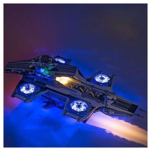 HLGQ LED-Licht-Kit Für (S.H.I E.L.D Sky Träger) Bausteine Modell Mit Fernbedienung - LED-Licht Set Kompatibel Mit Lego 76042 (Das Modell Nicht Im Lieferumfang Enthalten)