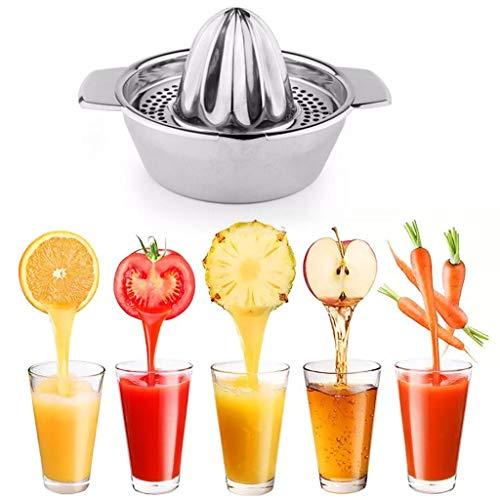LRWEY - Exprimidor manual de cocina (acero inoxidable), color naranja 10 x 18 x 13 cm metalizado