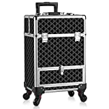 OUDMAY by Amazon - Makeup Case - Professional Rolling Cosmetic Travel Storage With Folding Trays and...