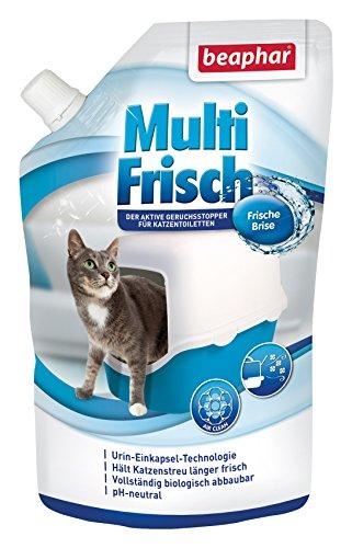 beaphar Multi Frisch Frische Brise | Geruchsneutralisierer für Katzenklos | Verlängert die Haltbarkeit von Katzenstreu | Duft nach frischer Brise | 400 g
