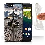 Stuff4 Gel TPU Hülle/Case für Huawei Nexus 6P / Pavillon Theater Muster/Englische Strand Kollektion