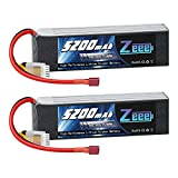 Zeee 4S Lipo Battery 14.8V 60C 5200mAh RC Lipo Softcase with Deans Connector for RC Buggy Truggy Crawler Monster Car Boat Truck 2 Pack