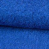 Stoffe Werning Teddystoff Locke Uni Royalblau Krimmer