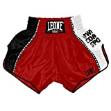 LEONE 1947 Training, Pantaloncino Kick-Thai Unisex – Adulto, Rosso, M