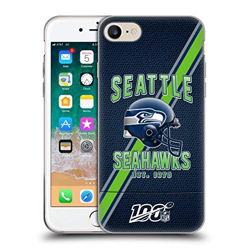 Head Case Designs Offiziell Zugelassen NFL Football Streifen 100ste Seattle Seahawks Logo Art Soft Gel Handyhülle Hülle Huelle kompatibel mit Apple iPhone 7 / iPhone 8 / iPhone SE 2020