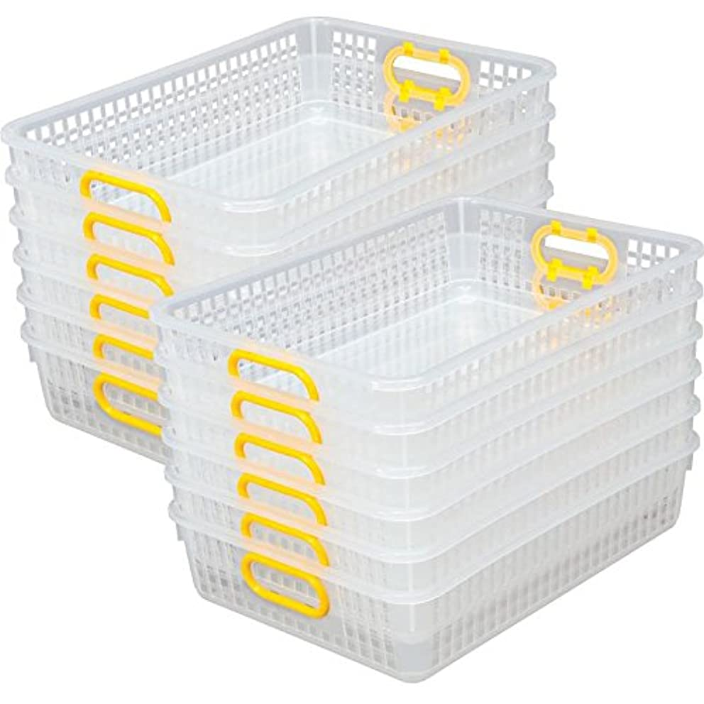 Really Good Stuff Multi Purpose Storage Baskets, Clear -13