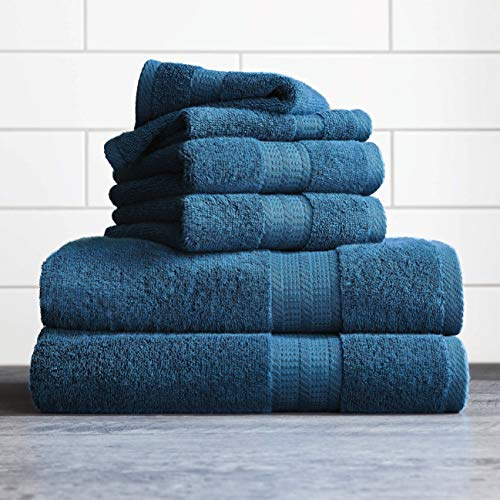 Better Homes and Gardens Thick and Plush 6-Piece Cotton Bath Towel Set