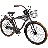 "Huffy 26"" Nel Lusso Men's Single-Speed Comfort Cruiser Bike, Charcoal"