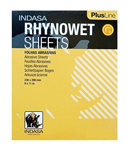 Redline XL RHYNOWET Sheets 9 X 11 400 GRIT 50//Box