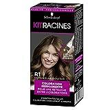 Schwarzkopf - Kit Racines - Coloration Racines Cheveux Permanente - Couverture Cheveux Blancs - Châtain Clair à Châtain R1