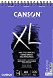 Bloc Dibujo Acuarela Canson Xl Mix Media Grano Medio Din A4 Microperforado Espiral 21x29,7 Cm 30 Hojas 300 Gr