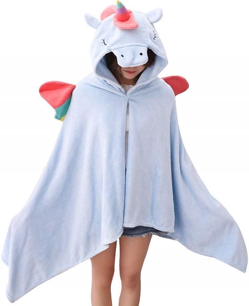 Landove Manta con Capucha Unicornio Poncho Oficina Bata Casa Pijama