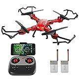 GoolRC Drone con Fotocamera HD 720P T5W PRO 2.4G 4CH WiFi FPV Pieghevoli RC Quadcopter Selfie Drone One-Key Restituzione di Altitudine