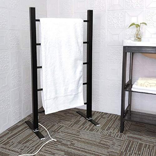 EEUK Toalleros electricos bajo Consumo de pie, radiador toallero electrico 100 W Calentador Secador de Toallas Secado Potente para Baño Cocina Secador Toallas, negroUK Plug