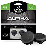 KontrolFreek Alpha for Xbox One Controller | Performance Thumbsticks | 2 Low-Rise Concave | Green (Black)