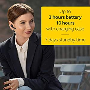 Jabra Talk 55 Bluetooth Headset for High Definition Hands-Free Calls with Dual Mic Noise Cancellation, Touch Controls and Portable Carrying Case