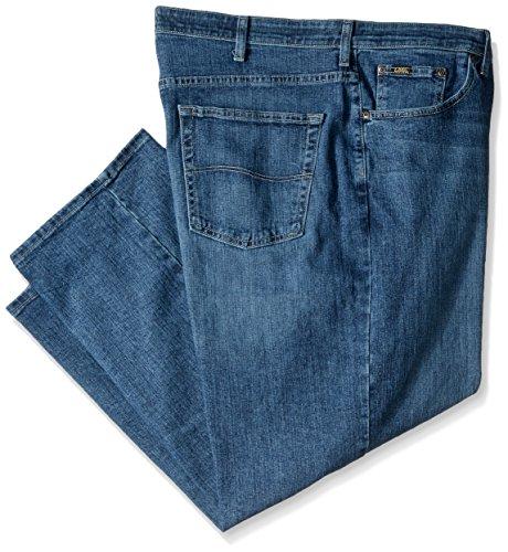 Lee Herren Big & Tall Custom Fit Loose Straight Leg Jeans, RIC, 46W / 29L