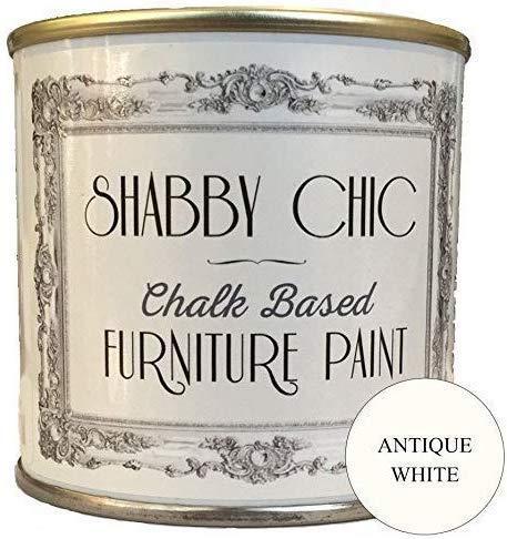 Shabby Chic Chalk Paint Für Möbel Matte Oberfläche kreidefarbe Antikes Weiß (Antique White) 250ml