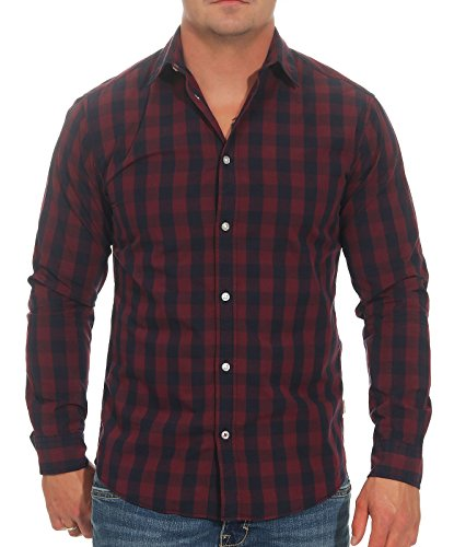 JACK & JONES Herren Jjegingham Shirt L/S Freizeithemd, Mehrfarbig (Port Royale Checks:mixed Navy), XXL EU