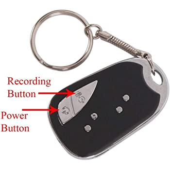 M MHB HD Keychain Camera HD Sound Quality Audio/Video Recording, While Recording No Light Flashes .32GB Memory Supportable.