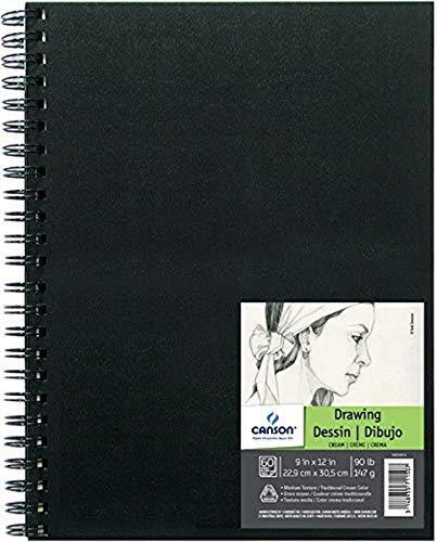 Canson Artist Series Field Drawing Book for Pencil, Pen and Felt Tip Pens, Side Wire Bound, 90 Pound, 9 x 12 Inch, 60 Sheets