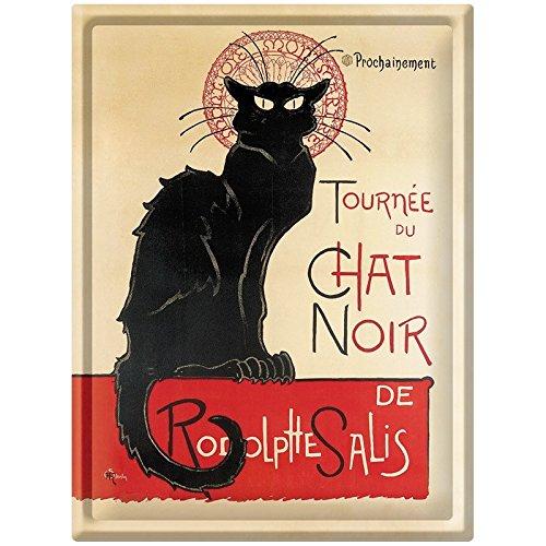 Editions Clouet 56055 - Grande Plaque métal 30x40 cm Tournée du Chat Noir - Tournée du Chat Noir