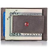 Alpine Swiss RFID Harper Money Clip Front Pocket Wallet For Men Gray