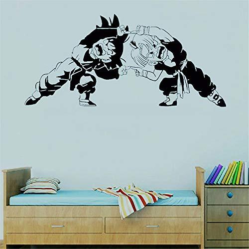 Dragon Ball Wandtattoo Dragon Ball Z Anime Charakter Trunks und Sohn Goten Kampfhaltung Wandtattoo Anime Fans dekorative Vinyl Wandaufkleber
