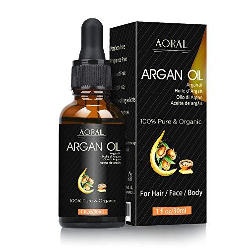 Arganöl Vegan + Kaltgepresst - 30ml in Lichtschutz Glas-Flasche - Anti-Aging - Feuchtigkeitspflege für Junge Haut, Gesicht, Haare & Näge l Bio Naturkosmetik -- Flüssiges Gold