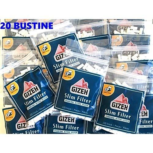 Gizeh filtri Slim Carbone Attivo 6 mm - 20 Buste