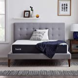 LUCID 10 Inch 2020 Gel Memory Foam Mattress - Medium Plush Feel - CertiPUR-US Certified - Hypoallergenic Bamboo Charcoal, Twin XL