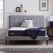LUCID 10 Inch Memory Foam Plush Feel – Gel Infusion – Hypoallergenic Bamboo Charcoal – Breathable Cover Bed Mattress Conventional, Queen