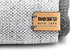 Etiquetas plegable de cuero hechas a mano handcrafted with love Mod. HMO4 - Exclusivas grabadas etiquetas de piel italiana (30 piezas - Texto Personalizado)