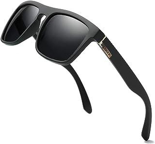 df8ab6fa6 DUBERY Men's Classic Glasses Retro Polarized Sunglasses Vintage Oversized  Eyewear for Women&Men UV400 Protection D731