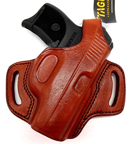 HOLSTERMART USA by TAGUA Right Hand Classic BH1 Brown Leather Thumb Break OWB Belt Holster for Ruger LC9 LC9S LC380 and EC9S
