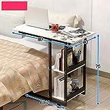 Folding table ZZHF Nachttisch Laptop Schreibtisch Abnehmbar Schlafzimmer Wohnzimmer Kleiner Couchtisch Nachttisch Sofa Beistelltisch Schreibtisch, 1, 80 * 40 * 75cm