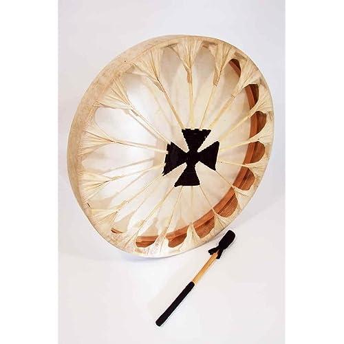 "Native American Style Thunder Drum, 20"" diameter"