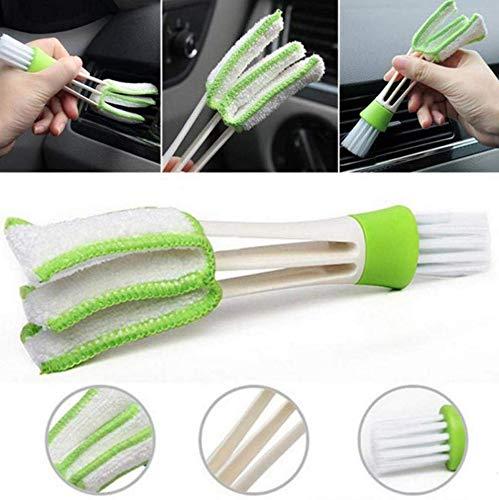 2PCS 自動車用ブラシキーボードを清潔にするブラシベネチアンブラインドクリーナーダスター洗濯可能洗える網戸 掃除ほこり取りDust Brush