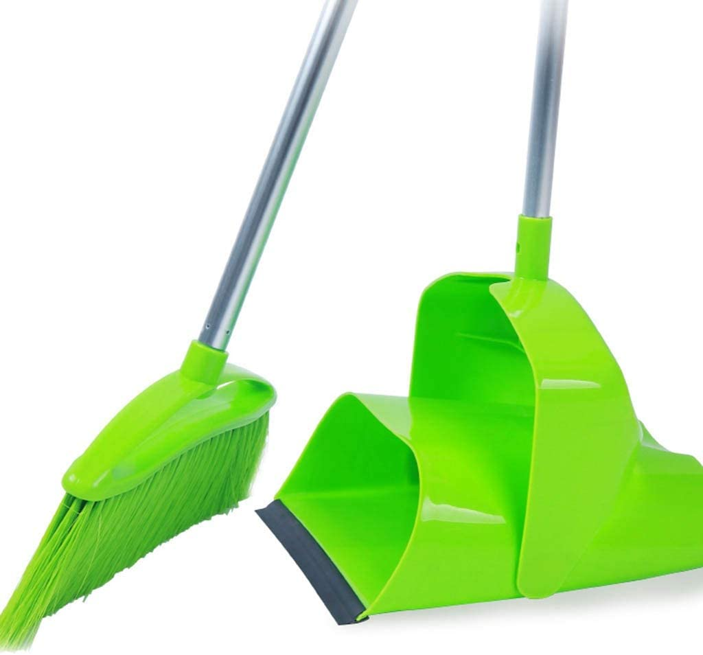 NLIAN- Broom and Dustpan Set Fully Sales Max 89% OFF Enclosed with Lid Elasticity