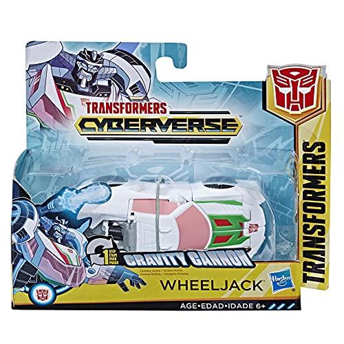 Transformers oys Cyberverse Action Attackers 1-Step Changer Wheeljack Actionfigur, wiederholbare Schwerkraftkanone Action Attack – für Kinder ab 6 Jahren, 10,7 cm