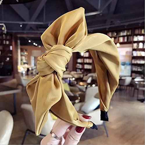 tggh Diadema con lazo para mujer, accesorio para el pelo, diadema de lazo grande (color rojo para el cabello)